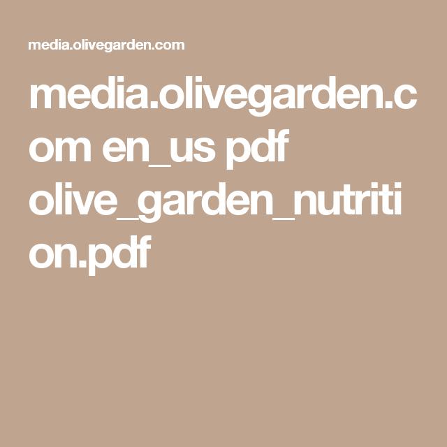 Olive Garden Nutrition Media Olivegarden Com En Us Pdf
