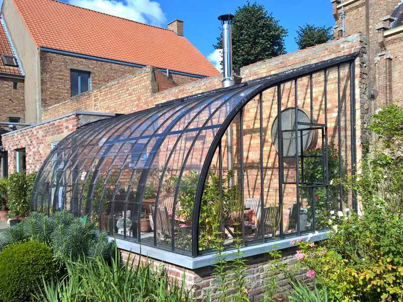 serre de jardin adossée sur mesure DBG Classics 2 | Serre ...
