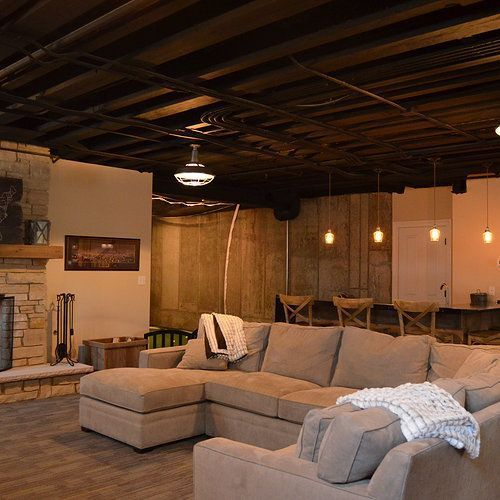 Merveilleux Unfinished Basement Ideas. Tags: On A Budget, DIY, Cheap, Industrial,