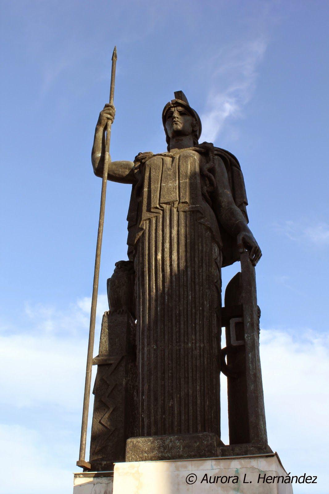 Estatua Minerva Foto Blogger Desde La Terraza Del Círculo