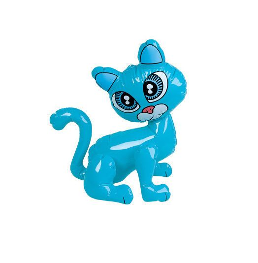 20  INFLATABLE BLUE KITTEN CAT PET WATER POOL SUMMER BLOW UP KIDS PARTY TOY