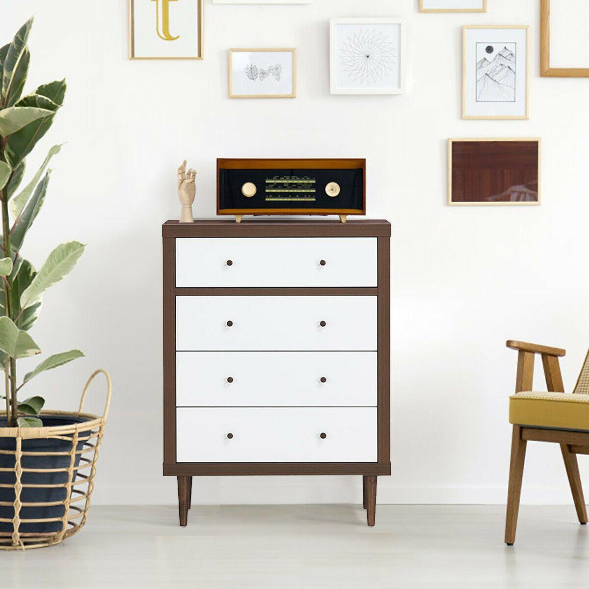 Best 4 Drawer Dresser Wooden Chest Storage Freestanding Cabinet 400 x 300