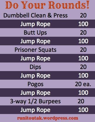 As many rounds as you like -- at home circuit workout.