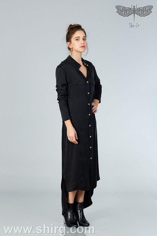 שמלות ערב  - שמלת אדמס מקסי מכופתרת | by shirgershovitz