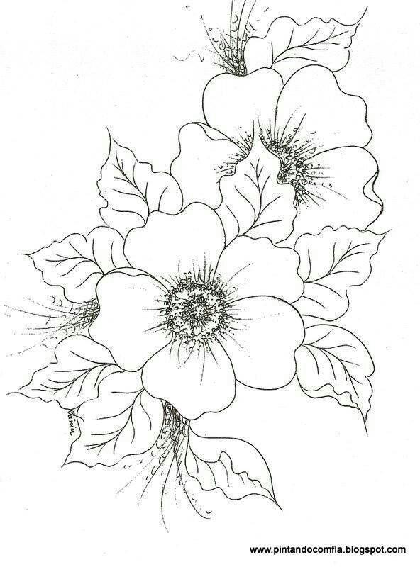 Patrón de flores para bordar | Imágenes para pintar | Pinterest ...