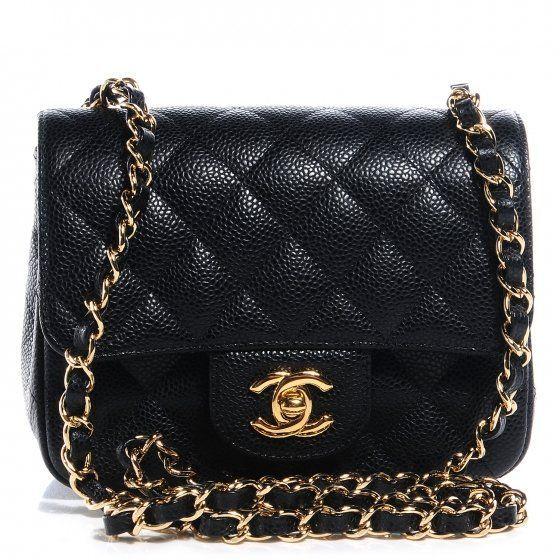14e895662266 CHANEL Caviar Quilted Mini Square Flap Bag Black | Coco Is Haute ...
