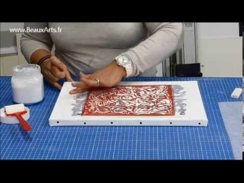 Comment Maroufler Un Papier Sur Une Toile Par Beauxarts Fr