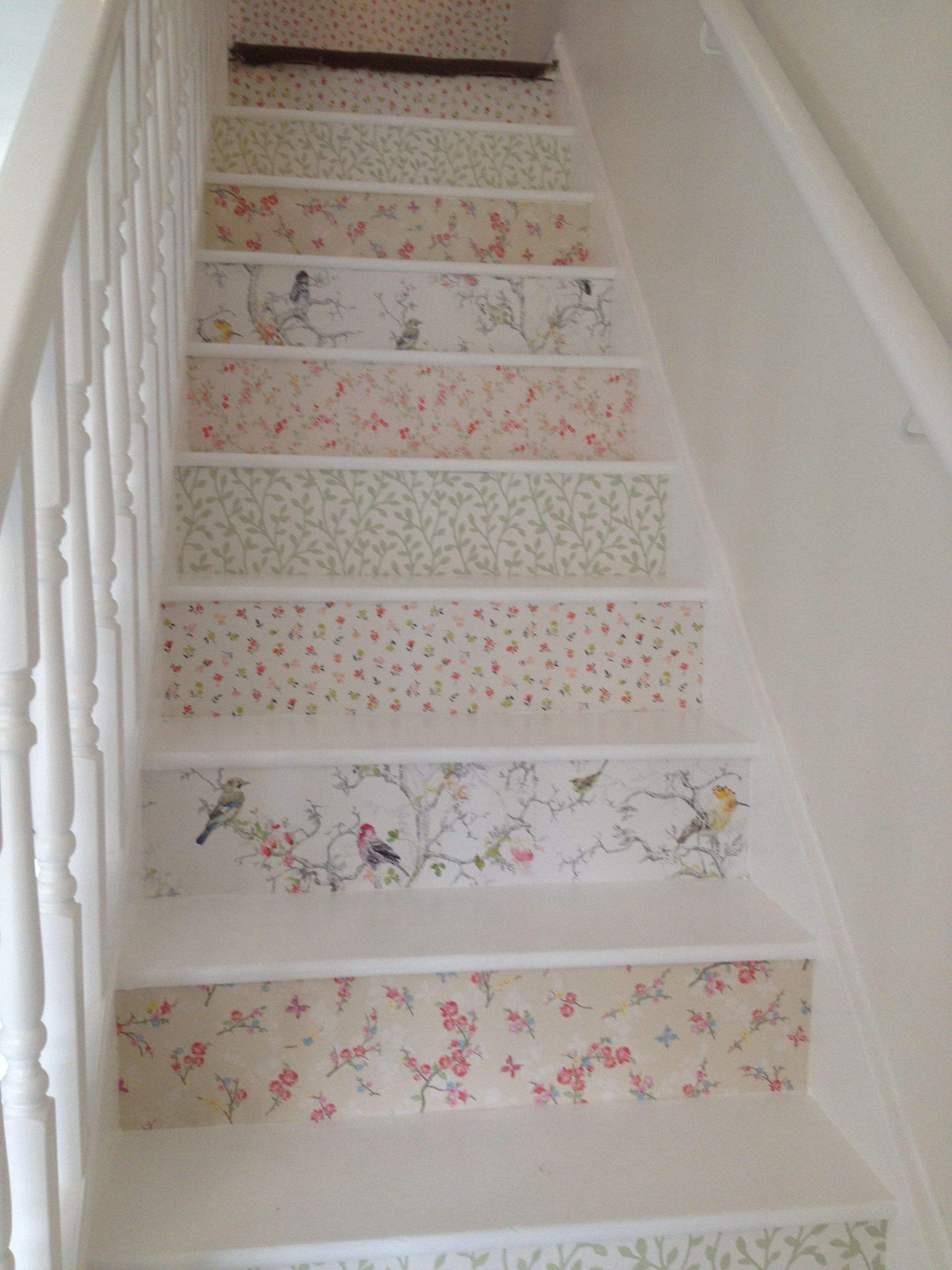 Wallpaper Stairs 3 Wallpaper Stairs Shabby Chic Decor Home Interior Design