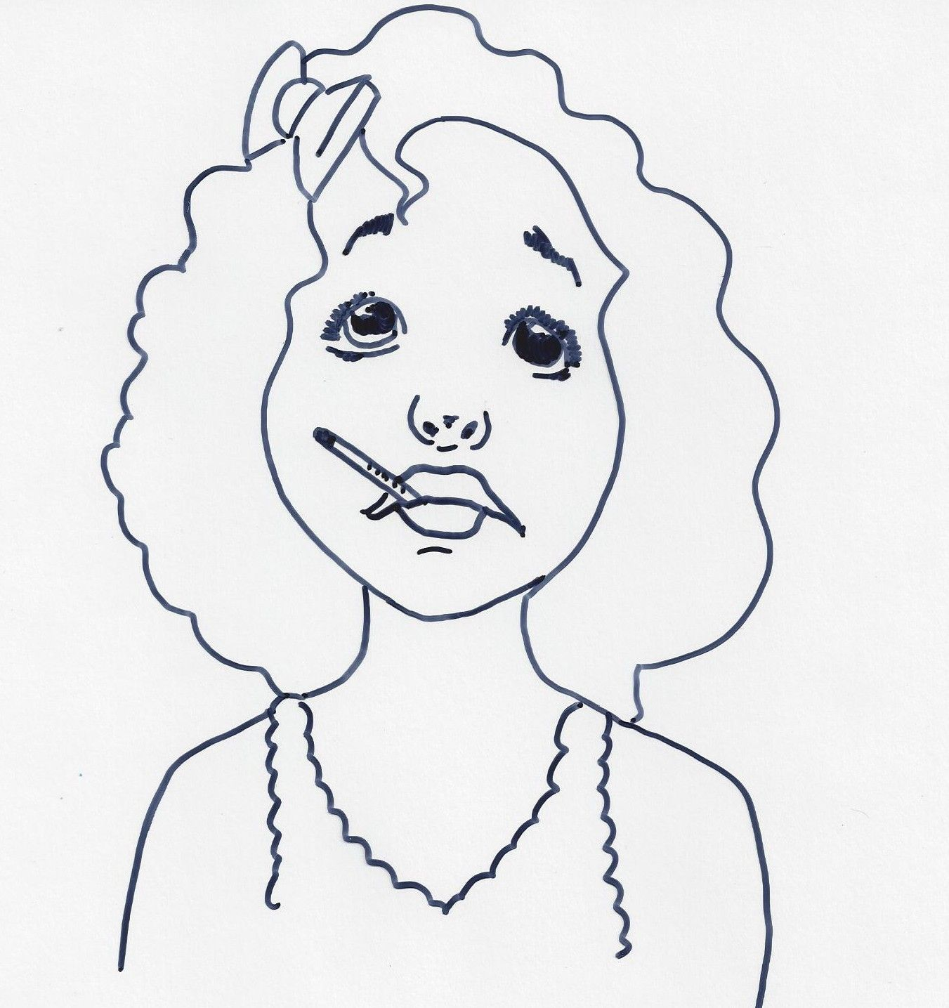 Coloring Pages For Story Time Bad Case Of Stripes Coloring
