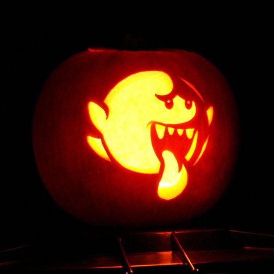 pumpkin template gaming  Video Game-Inspired Pumpkin Templates | Pumpkin carving ...
