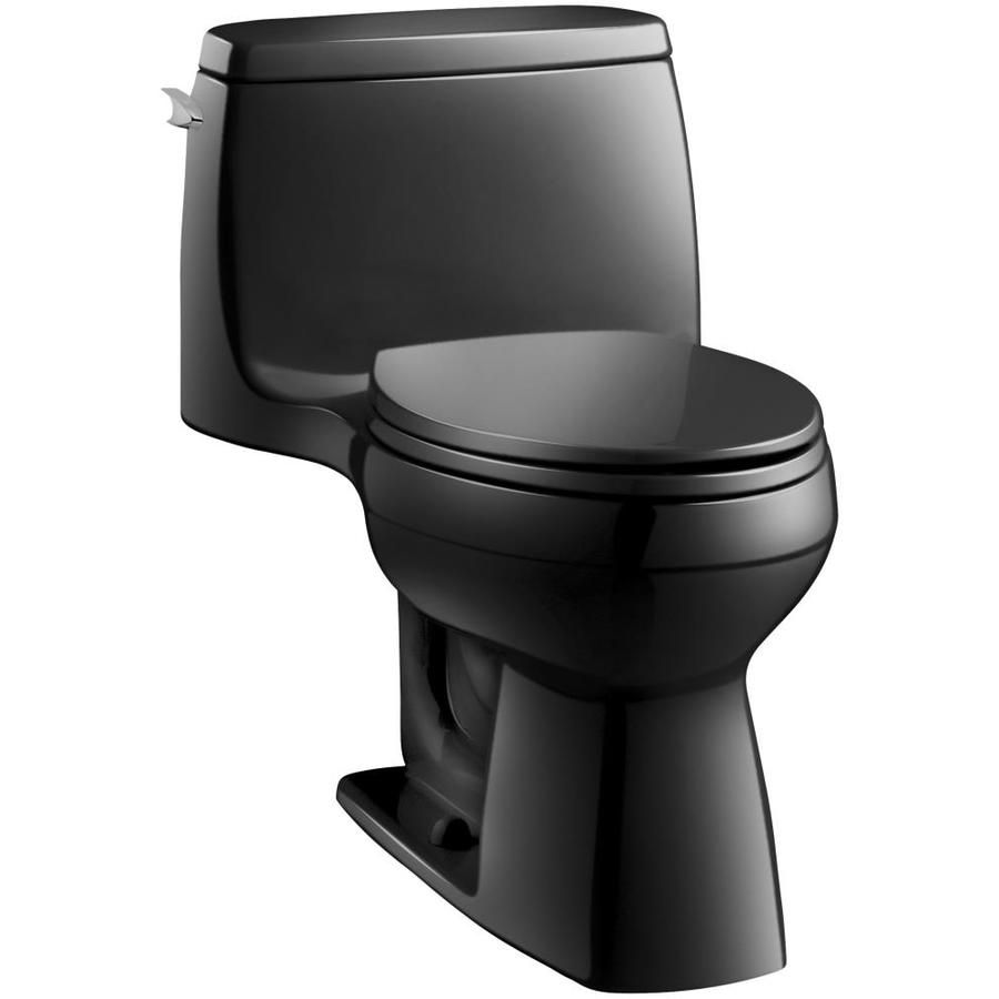 Kohler Santa Rosa Black Black Watersense Compact Elongated Chair