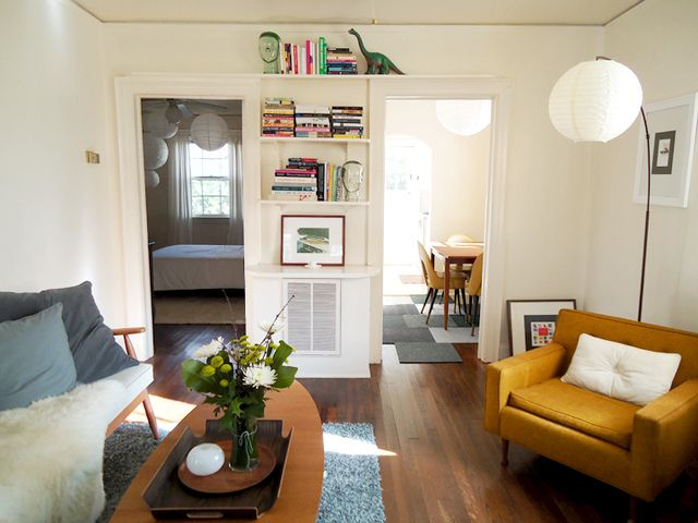 Liz\'s Well-Edited Half of a Durham Duplex — House Tour | Small ...