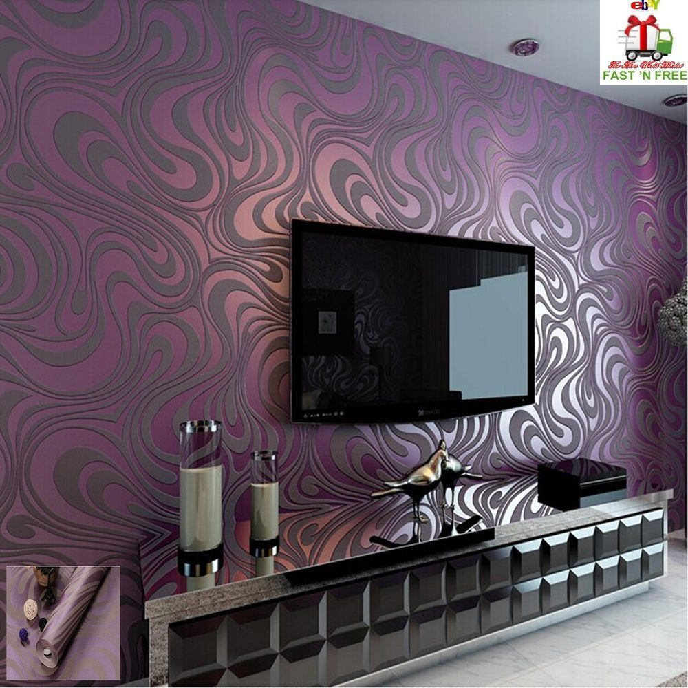 3d Wallpaper Vinyl Embossing Textured Art Modern Backgroun
