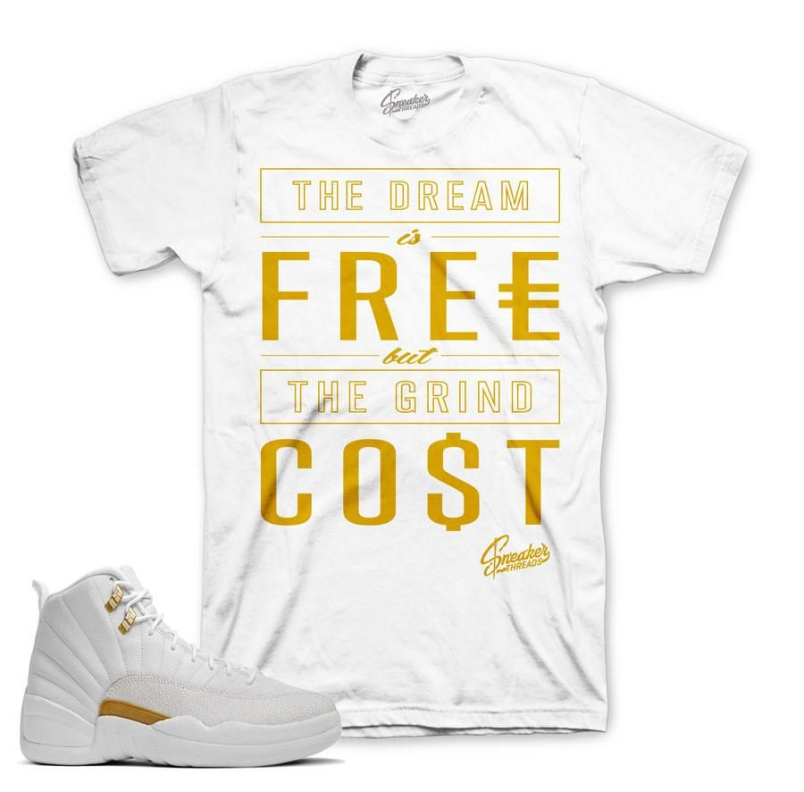 Jordan 12 OVO Shirt - Cost - White   Products in 2019 ...