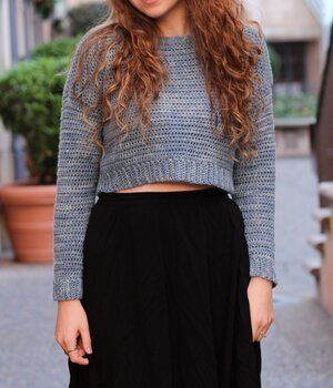 The Acacia Cropped Sweater - Free Crochet Pattern — Hooked On Tilly