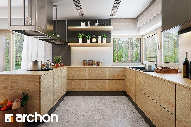 Wystrój wnętrz - Kuchnia - styl Skandynawski Projekty i aranżacje - nobilia küche erweitern