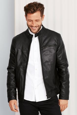 A leather jacket will always be a winner, especially when the ...