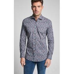 Slim fit shirts -  Shirt Panko in Navy patterned JoopJoop!  - #cuteoutfits #fashionjewelry #fashiontrends #Fit #shirts #Slim #trendyoutfits