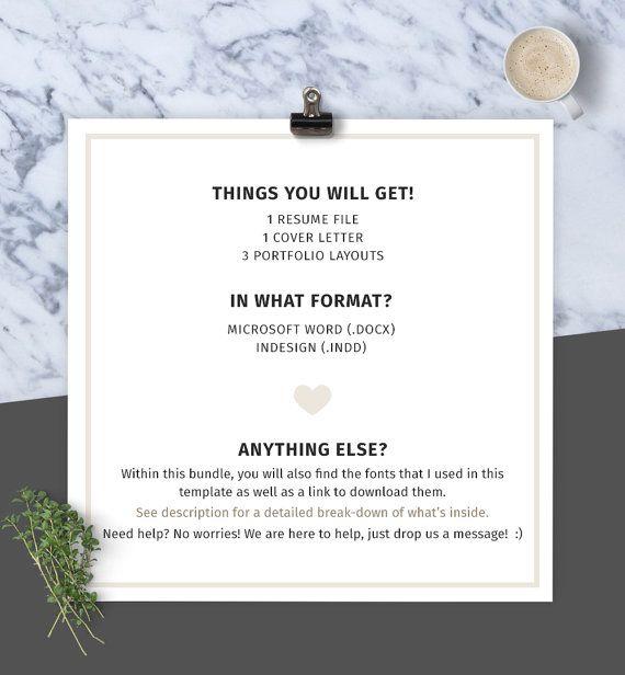 Bundle: Resume/CV Cover Letter Portfolio Template by JFAYCo  #resume #design #portfolio #graphicdesign #cv #coverletter #resumedesign