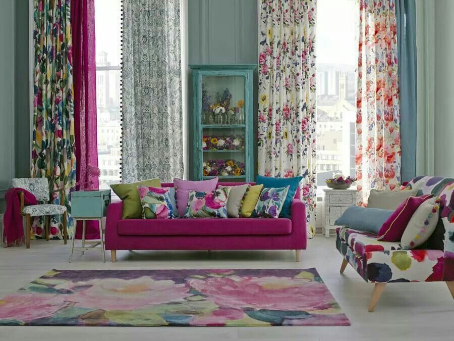 For the love of fushia!! beautiful living rooms pinterest