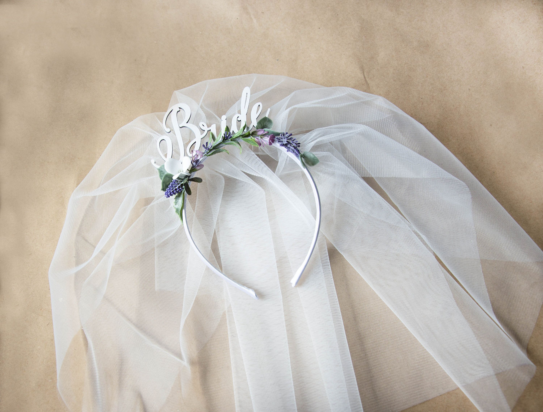 Bride Party headband Hen Party Crown Headband Veil headband Bride with veil headband Headband with veil Bridal Shower