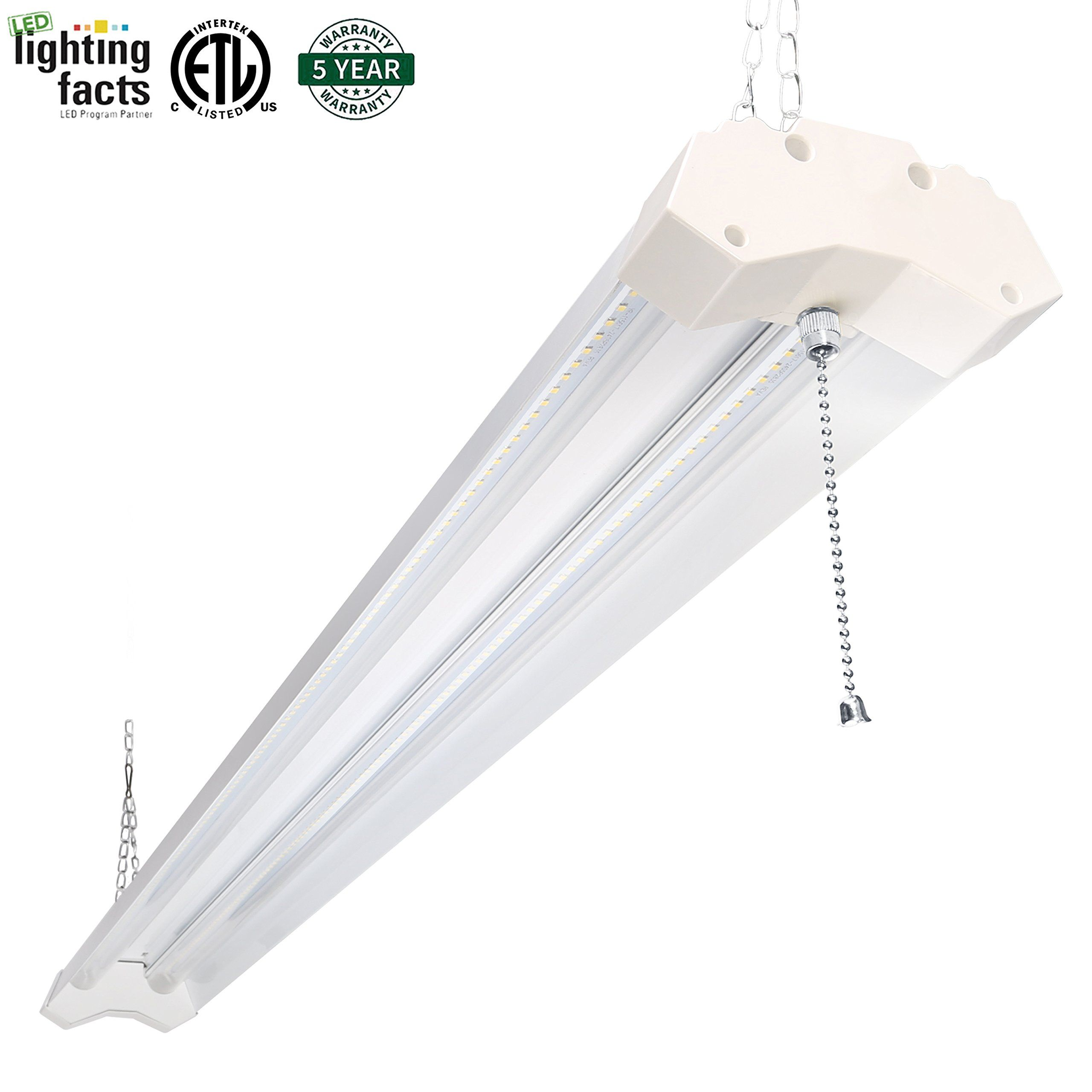 40 Watt In Lumen Hykolity Utility Led Shop Light 4ft 40 Watt 4800 Lumen 4000k