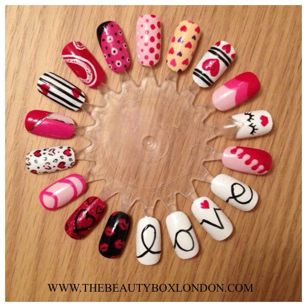 Valentines nail art using Jessica Nails polishes. Shop online at www ...