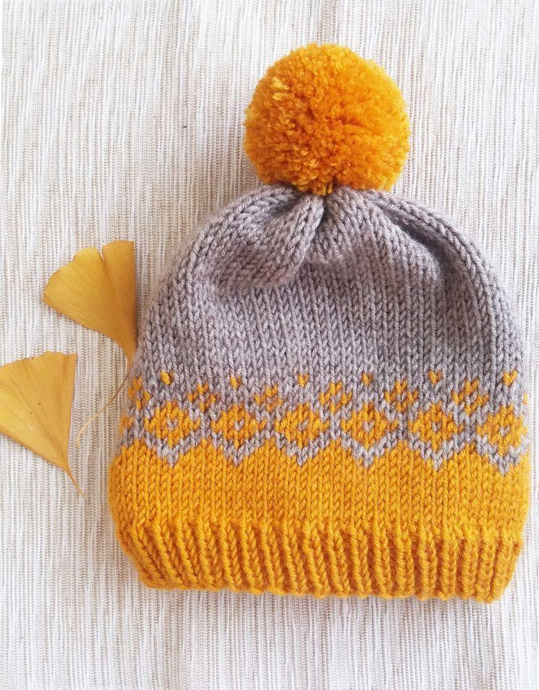 bd2047cda Baby Toddler hand knitted fair isle hat pom pom hat beanie holidays ...