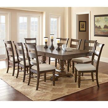 Kaylee 9 Piece Dining Set Dining Room Ambiance Dining Room