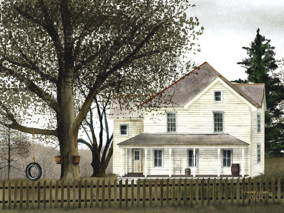 1890 Farmstead Canvas Painting Wall Decor Farm House Country Home Billy Jabocs