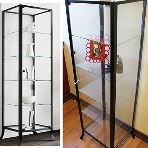 Ikea Detolf Glass Curio Display Cabinet White   house idea ...