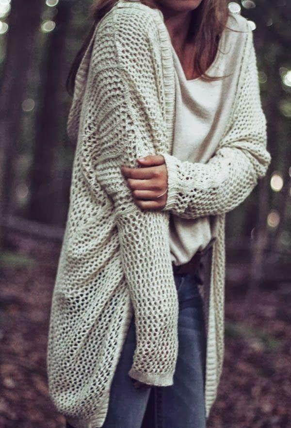 Oversized White Crochet Cardigan | My Style | Pinterest | Crochet ...