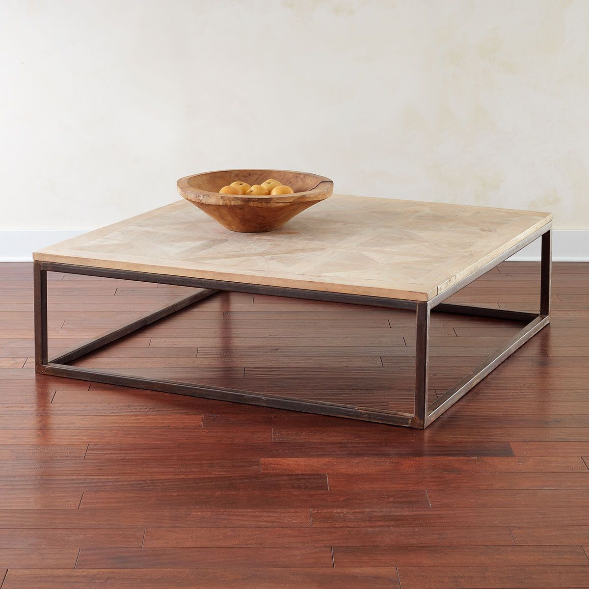 W4649 Square Parquet Top Coffee Table Tables And Consoles