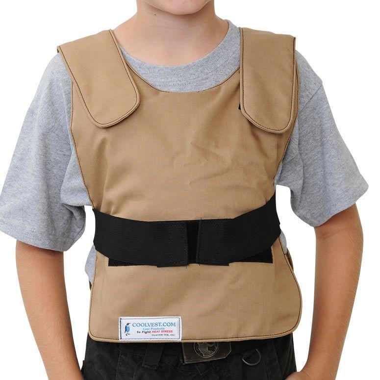 Glacier Tek Children's Cool Vest Tan Khaki, Includes