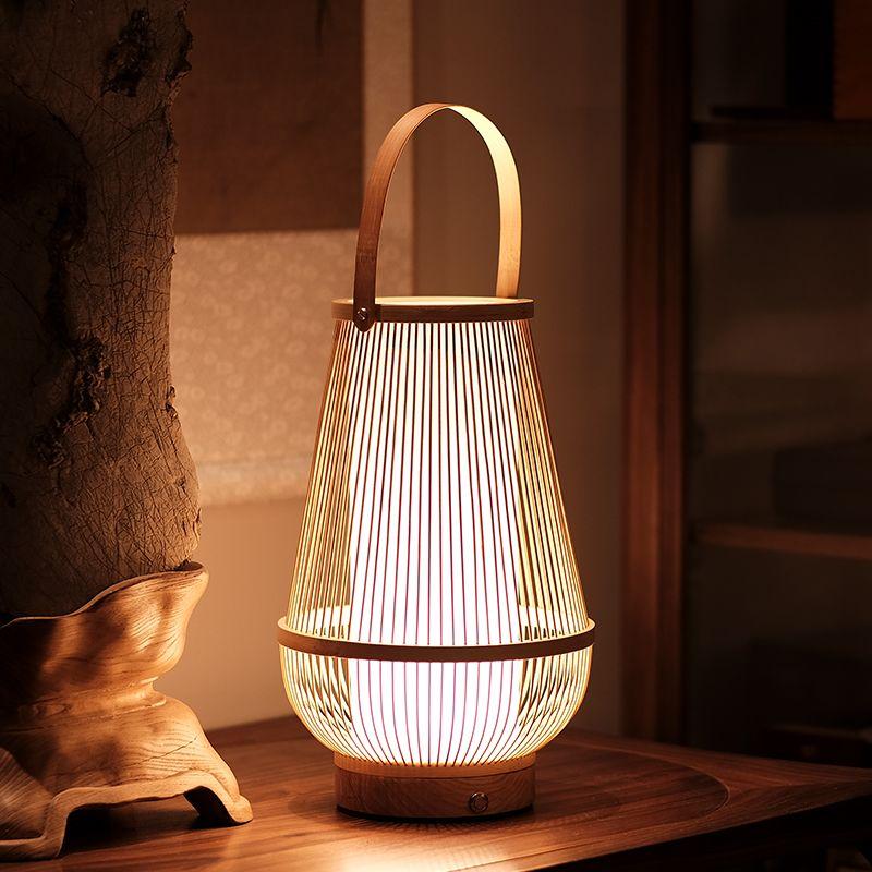Arturest Rustic Desk Lamp Bamboo Craft Table Light Etsy In 2020 Bamboo Crafts Rustic Desk Handmade Lamps