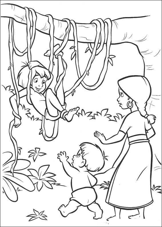 kleurplaat Jungle Boek 2 - Jungle Boek 2 | kleurplaten | Pinterest ...