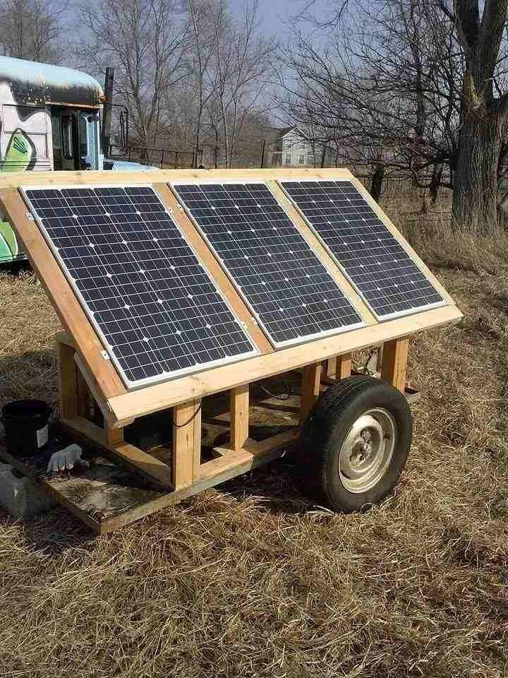 Solar Trolley Good Idea Portable Solar Panels Best Solar Panels Solar Energy Panels
