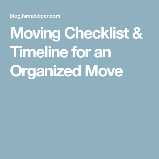 moving checklist timeline for an organized move pond view house