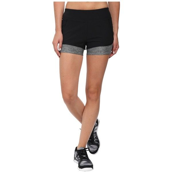 The North Face Dynamix Stretch Shorts Women's Shorts ($55) ❤ liked on Polyvore featuring activewear, activewear shorts, athletic sportswear and the north face
