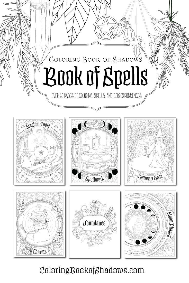 Book Of Spells Book Of Shadows Book Of Shadow Coloring Books