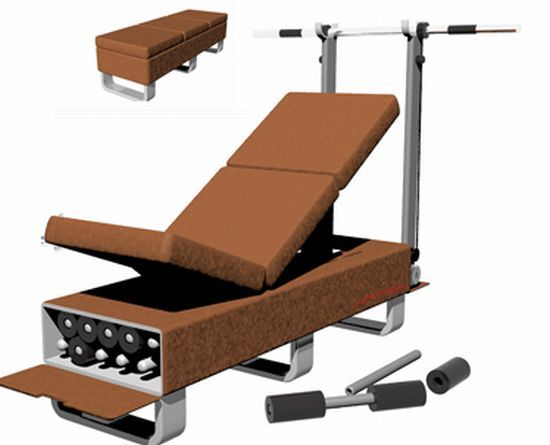 Ottoman Bench Turns Your Place Into A Full Strength Fitness Center Designbuzz Ottoman Bench Furniture Furniture Design