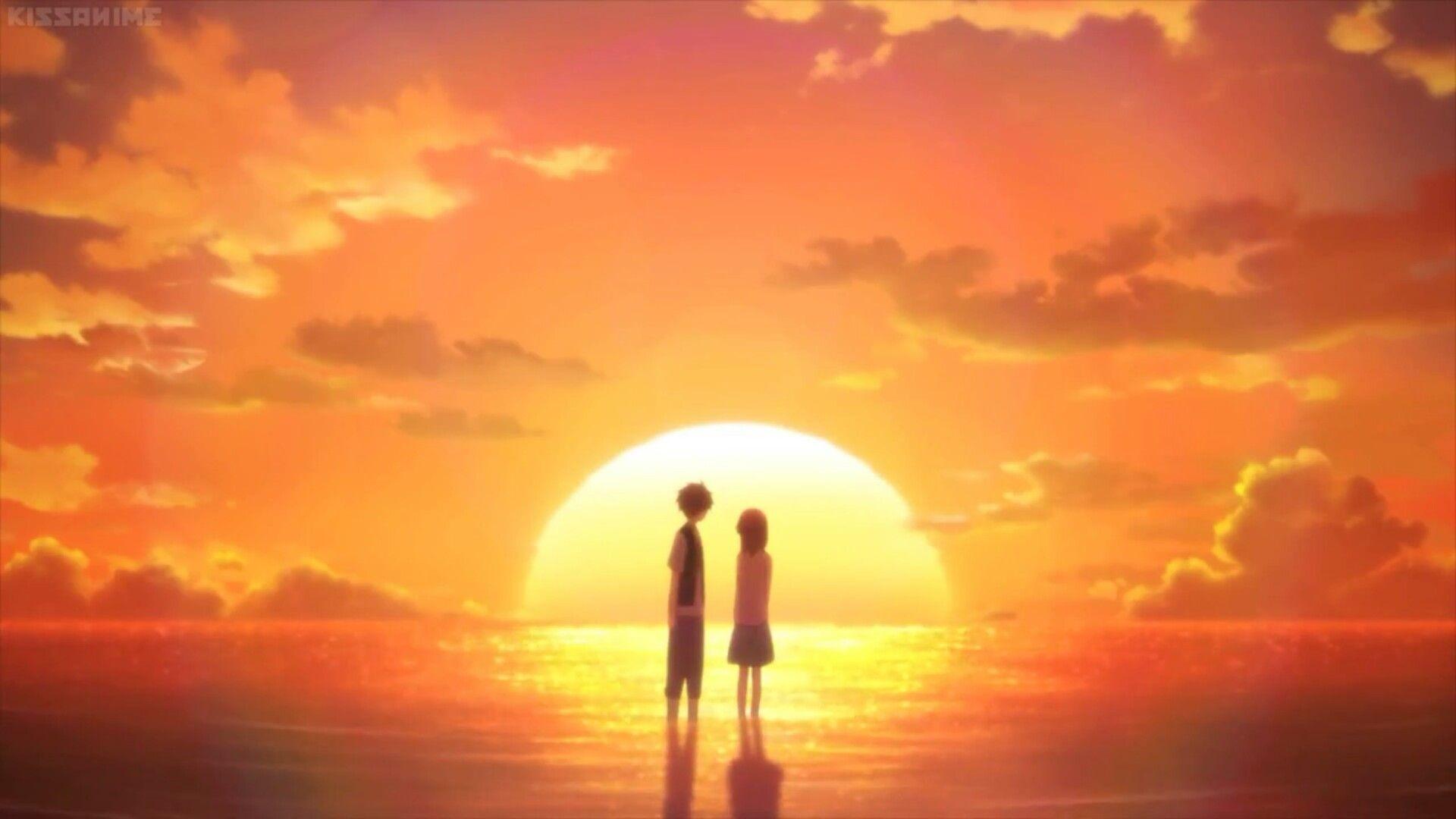 Beautiful Anime sunset Kanzen Pinterest Sunset