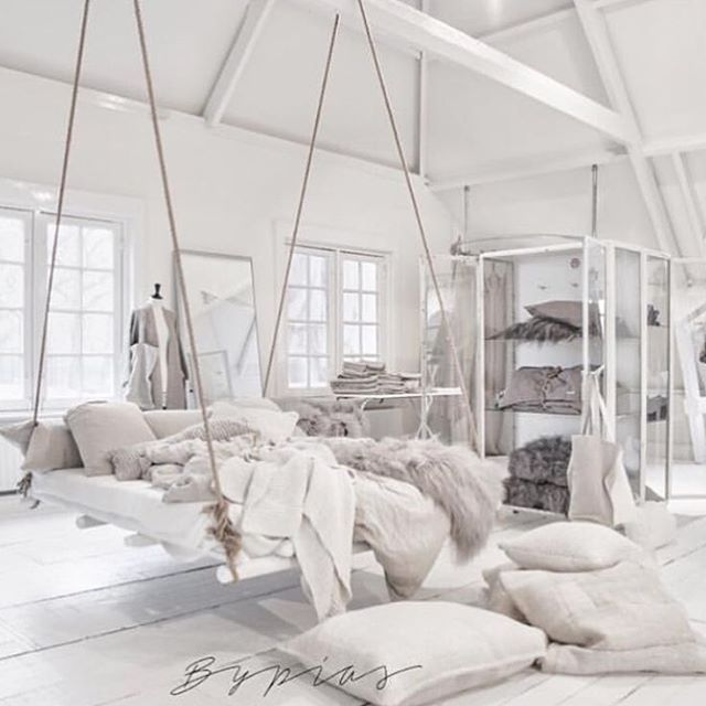 Neeeed This Room Comfy Cozy White Simple Soft