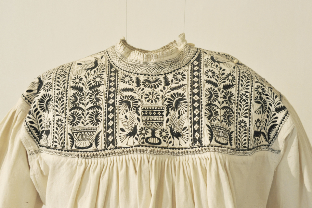 Embroidered Blouse Nahua Puebla Mexico