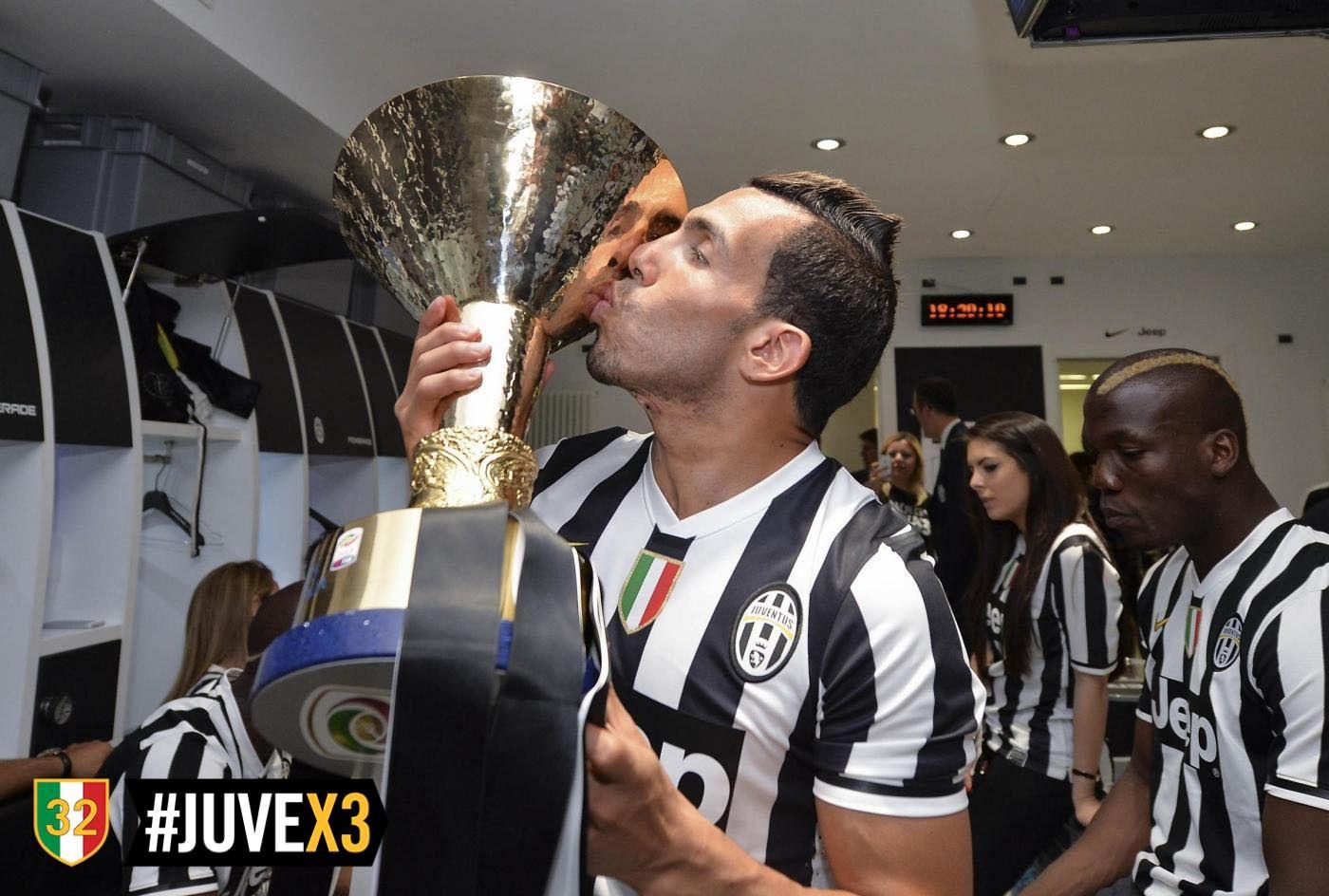 Juventus campione d'Italia - Festeggiamenti - Tevez