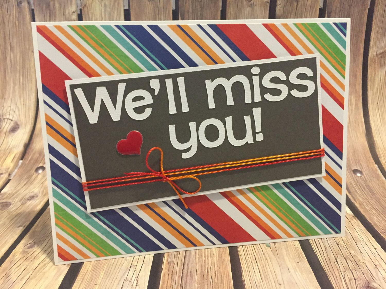 Handmade well miss you greeting card goodbye greeting card you greeting card goodbye greeting card kristyandbryce Image collections