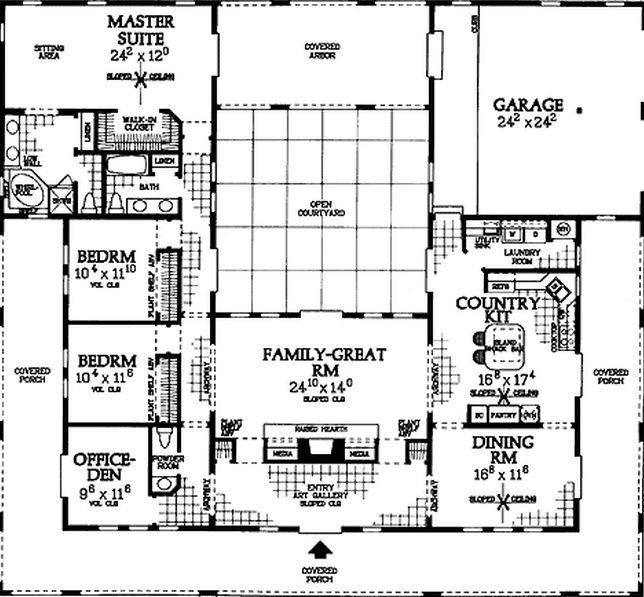Galeria Casas Coloniales Espanoles Planos Para La Casa Del Patio Fachadas De Casas Coloniales