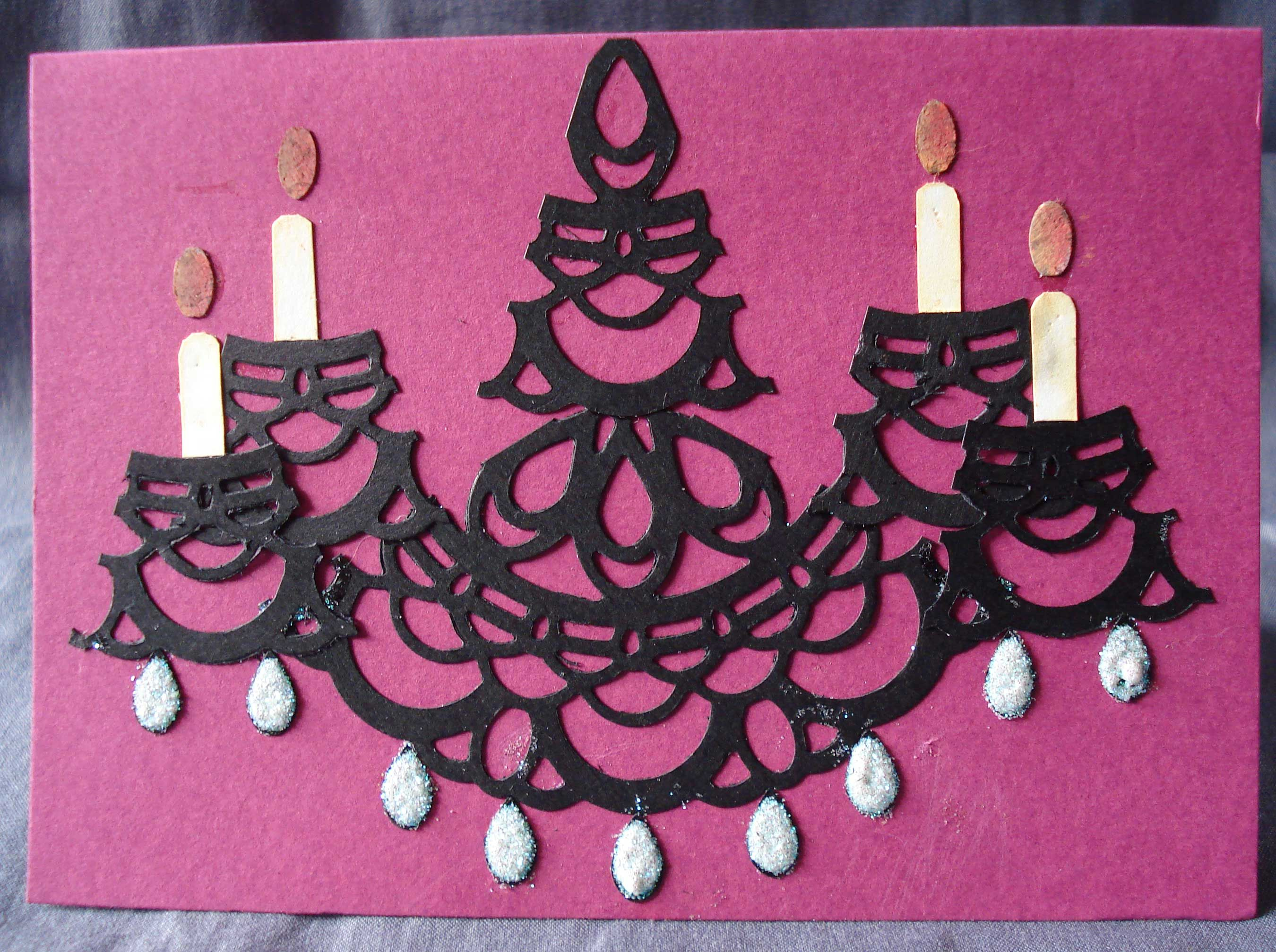 Chandelier cards card making