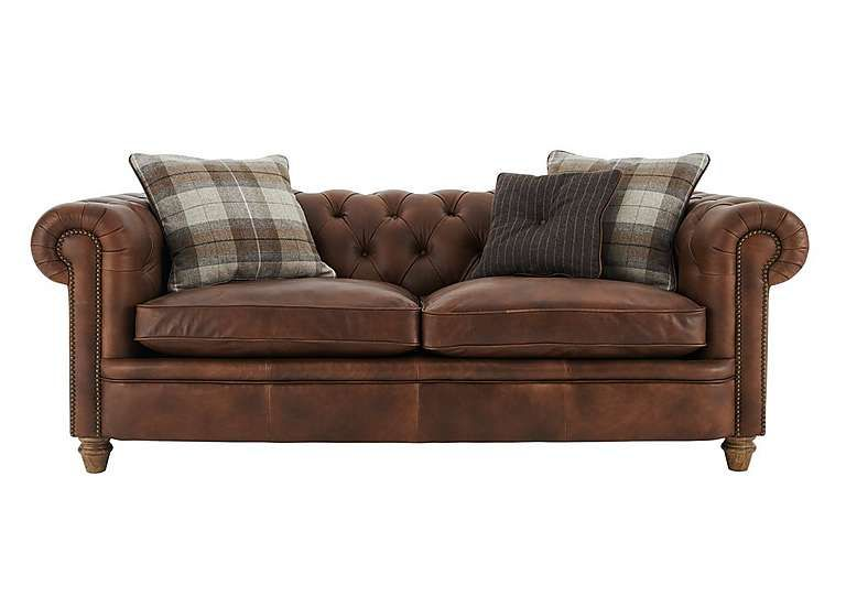 Furniture Village New England Newport 4 Seater Leather Sofa   Only Lavish  Buttoning For The Iconic