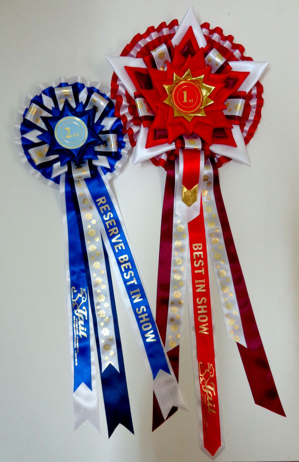 Best In Show Rosettes for Dog Shows  Huge 9 Tier Super Sized Star